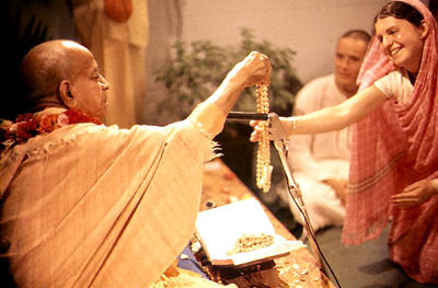 Srila Prabhupada giving initiation